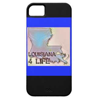 """Louisiana 4 Life"" State Map Pride Design iPhone 5 Cover"
