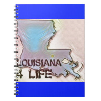 """Louisiana 4 Life"" State Map Pride Design Notebook"