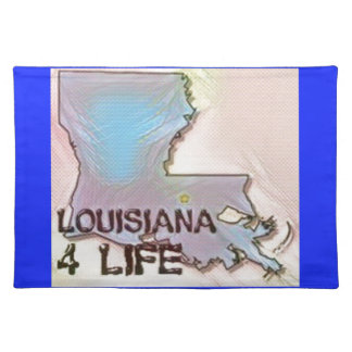 """Louisiana 4 Life"" State Map Pride Design Placemat"