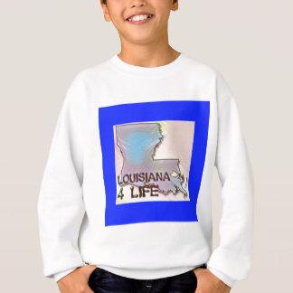 """Louisiana 4 Life"" State Map Pride Design Sweatshirt"