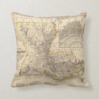 Louisiana 4 throw pillow