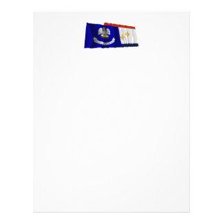 Louisiana and New Orleans Flags Custom Letterhead
