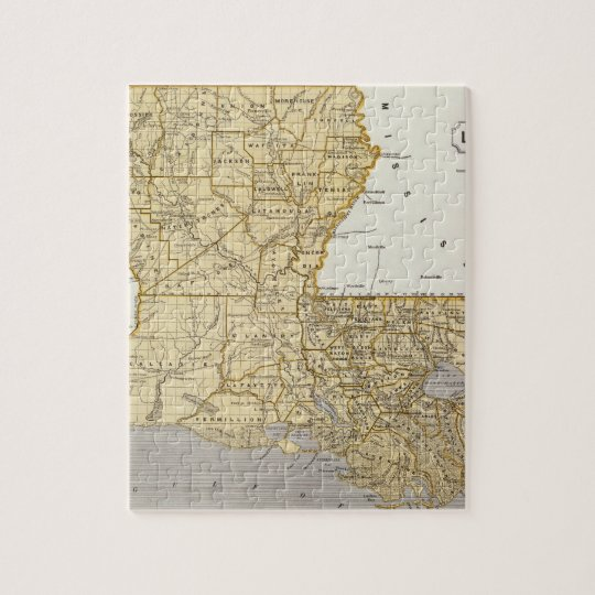 Louisiana Atlas Map Jigsaw Puzzle