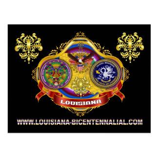 Louisiana Bicent. Mardi Gras BUILD-3 Postcard