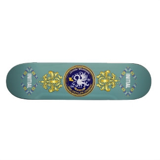 Louisiana Bicentennial Mardi Gras Logo View Hint Custom Skateboard