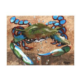 Louisiana Blue Crab Canvas Print