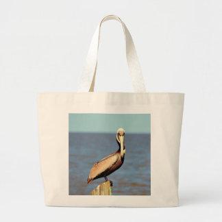Louisiana Brown Pelican 4.jpg Large Tote Bag