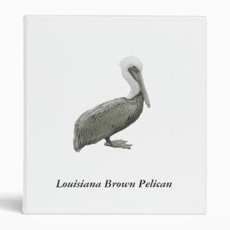 Louisiana Brown Pelican Vinyl Binder