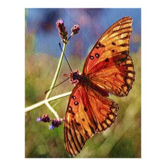 Louisiana Butterfly Personalized Letterhead