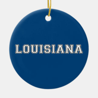 Louisiana Ceramic Ornament