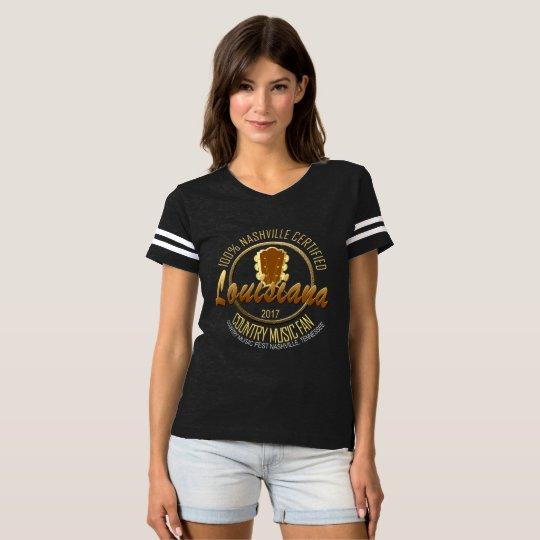 Louisiana Country  Fan Women's Football T-Shirt