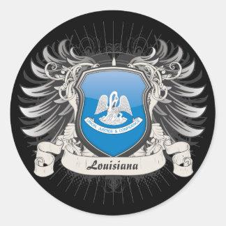 Louisiana Crest Classic Round Sticker