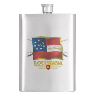 Louisiana (Deo Vindice) Hip Flask