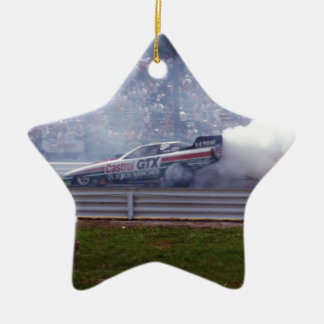 Louisiana Drag Racing Ceramic Star Ornament