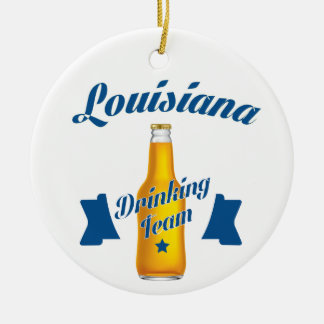 Louisiana Drinking team Ceramic Ornament