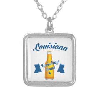Louisiana Drinking team Silver Plated Necklace