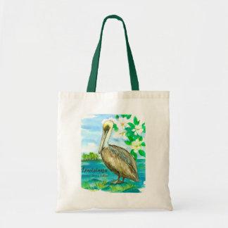 Louisiana Eastern Brown Pelican Watercolor Tote Bag