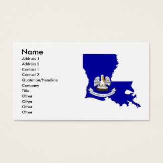 Louisiana Flag Map Business Card
