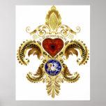 Louisiana Fleur De Lis Bicentennial Posters
