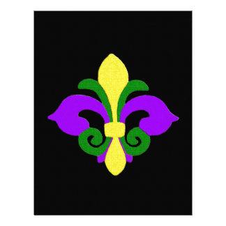 Louisiana Fleur de lis (Mardi Gras).jpg Customized Letterhead