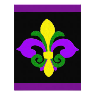 Louisiana Fleur de lis (Mardi Gras).jpg Customized Letterhead
