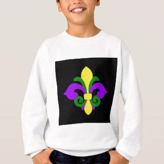 Louisiana Fleur de lis (Mardi Gras).jpg Sweatshirt