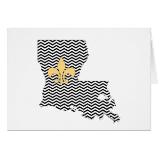 Louisiana Fleur de Lis Thank You Card