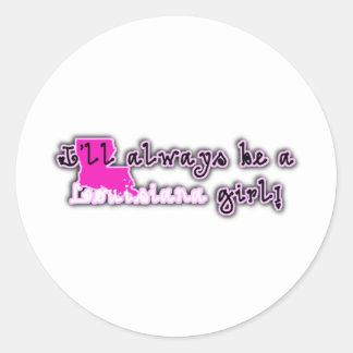 Louisiana Girly Girl Classic Round Sticker