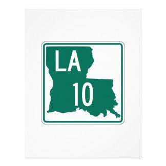 Louisiana Highway 10 Letterhead Design