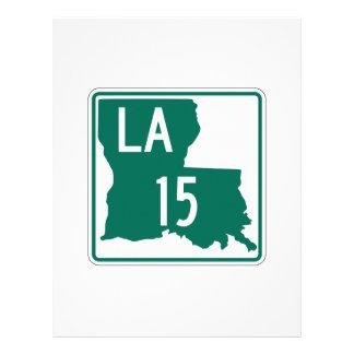 Louisiana Highway 15 Personalized Letterhead