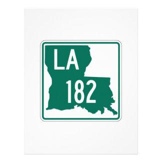 Louisiana Highway 182 Customized Letterhead