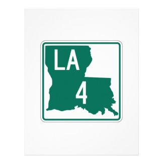 Louisiana Highway 4 Customized Letterhead