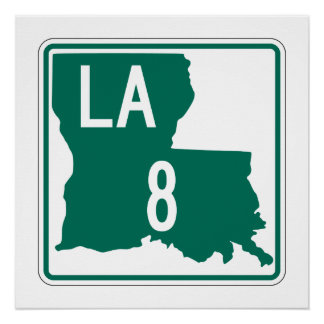 Louisiana Highway 8 Perfect Poster