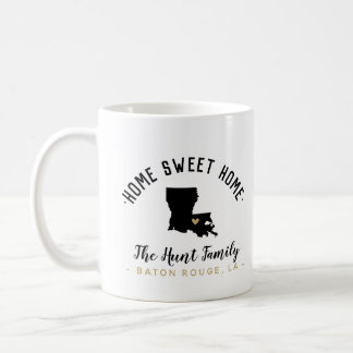 Louisiana Home Sweet Home Family Monogram Mug