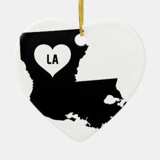 Louisiana Love Ceramic Ornament