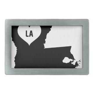 Louisiana Love Rectangular Belt Buckles