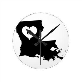 Louisiana Love Round Clock