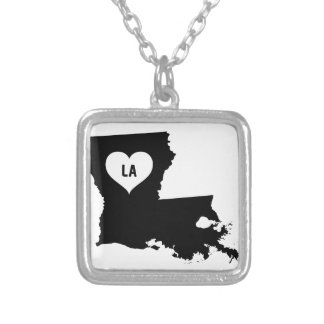 Louisiana Love Silver Plated Necklace