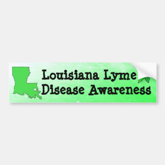 Louisiana Lyme Disease Awareness Bumper Sticker