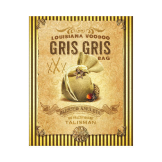 Louisiana New Orleans Gris Gris Voodoo Bag Canvas Print