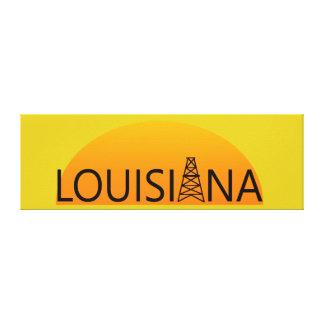 Louisiana Oil Field Sunset Canvas Print