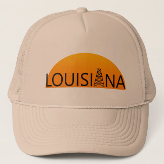 Louisiana Oil Field Sunset Trucker Hat