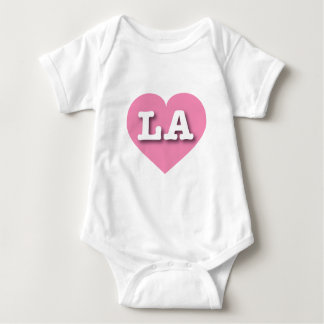Louisiana or Los Angeles Pink Heart - Big Love Baby Bodysuit