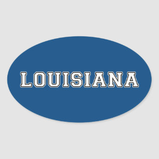 Louisiana Oval Sticker