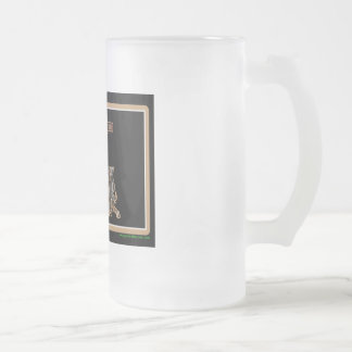 Louisiana Rig Up Camo Frosted Glass Beer Mug