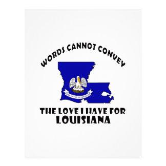 Louisiana state flag and map designs letterhead