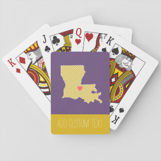 Louisiana State Map with Custom Heart and Name Poker Deck