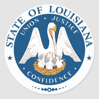 Louisiana State Seal Stickers