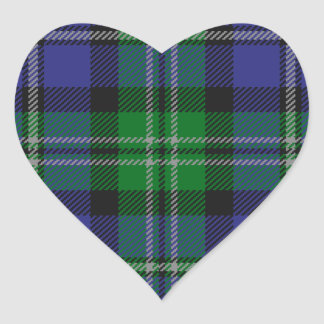 Louisiana_state_tartan Heart Sticker