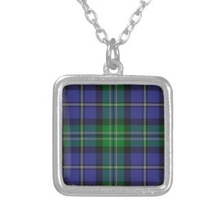 Louisiana_state_tartan Silver Plated Necklace